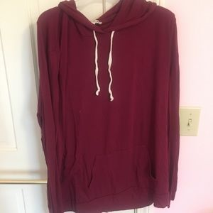 EXPRESS LONG SLEEVE HOODIE IN SIZE LARGE